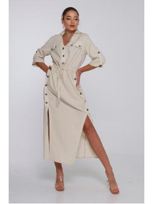 Платье-миди с рукавом 3/4 J6880-b