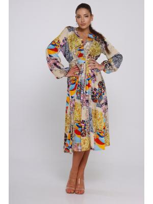 Платье с V-образным вырезом Jolie 6885
