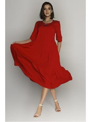 Платье-макси многоярусное J-6010-r