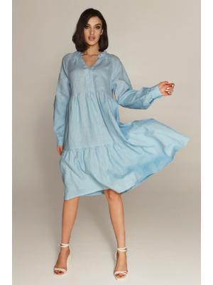 Платье многоярусное 21131912-blue
