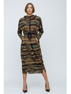 Платье миди с капюшоном 5009-k