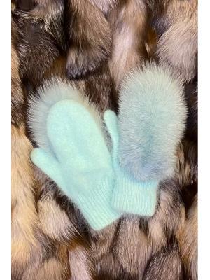 Зимние варежки с натуральным мехом J9318-my