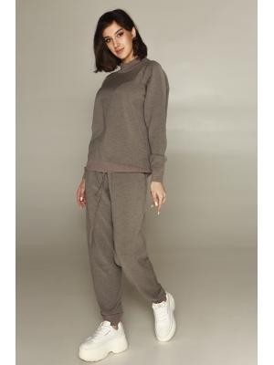 Женский костюм (Свитер, брюки) 47054-mokko