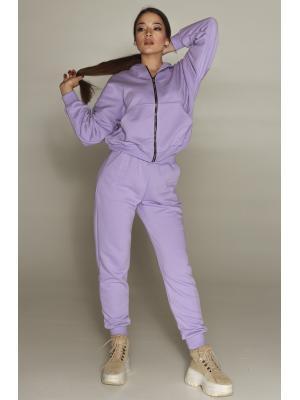 Женский костюм с капюшоном (Худи, брюки) Jolie 198-sirenevyy