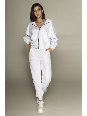 Женский костюм с капюшоном (Худи, брюки) Jolie 198-white