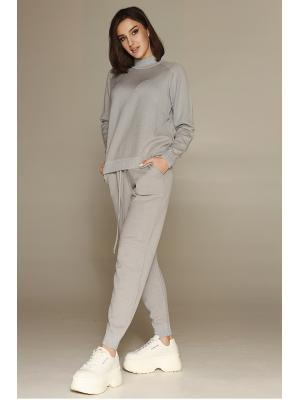 Женский костюм (Свитер, брюки) 47054-steel
