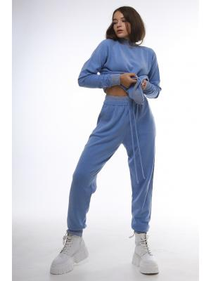 Женский костюм (Свитер, брюки) J 47061-blue
