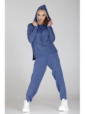 Женский костюм c капюшоном (Худи, брюки) YL610AB grey