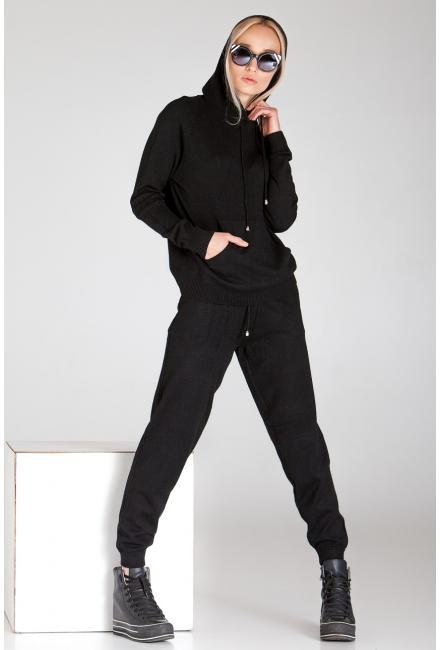 Женский костюм с капюшоном (Худи, брюки) PPT H-9236 black