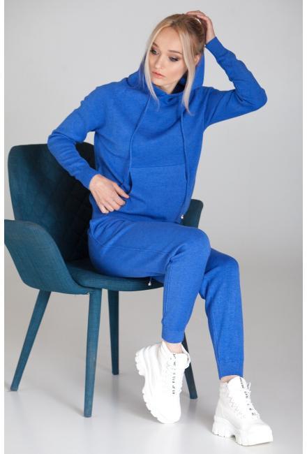 Женский костюм с капюшоном (Худи, брюки) PPT H-9236 blue