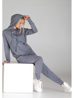 Женский костюм с капюшоном (Худи, брюки) PPT H-9236 grey