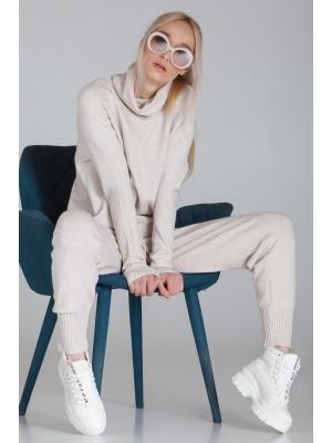 Женский костюм (Свитшот, брюки) Finery-933-beige