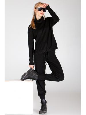 Женский костюм (Свитшот, брюки) Finery-933-noir