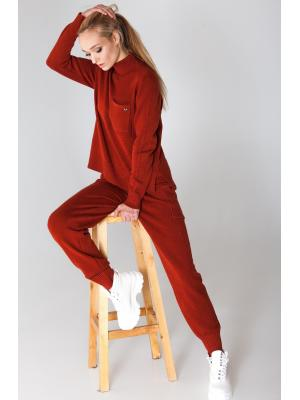 Женский костюм (Свитер, брюки) Finery-935AB-terracott
