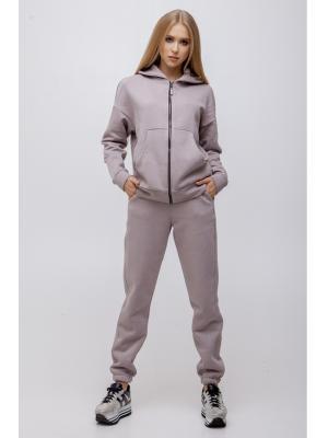 Женский костюм с капюшоном (Худи, брюки) Jolie 2552-grey