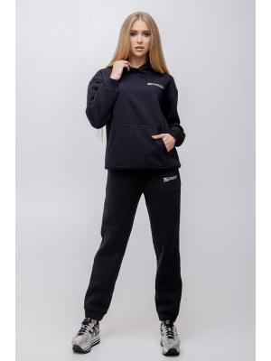 Женский костюм с капюшоном (Худи, брюки) Jolie 5941 black