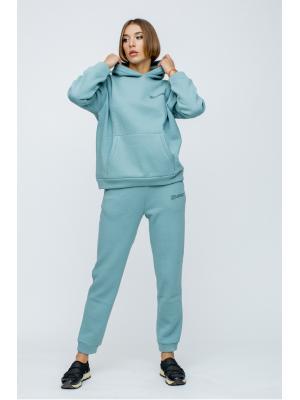 Женский костюм с капюшоном (Худи, брюки) Jolie 5941-blue