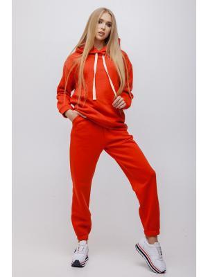 Женский костюм с капюшоном (Худи, брюки) Jolie 5948-red