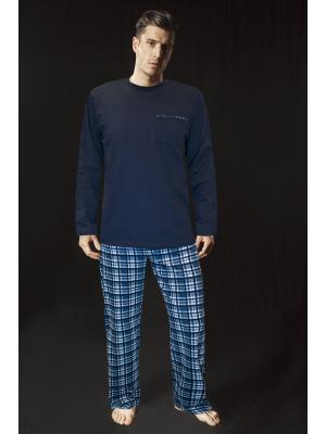 Пижама с длинными рукавами (Цвет: GB - зелено-синий)
