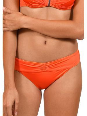 Плавки-слипы оранжевые с драпировкой на поясе Lisca 41301 GRAN CANARIA-o