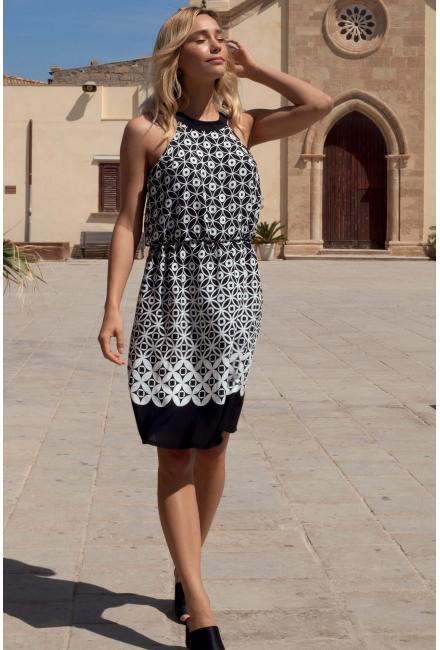 Платье-сарафан черно-белое Lisca 49324 DELOS