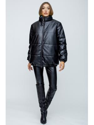 Дутая куртка из эко-кожи 059151