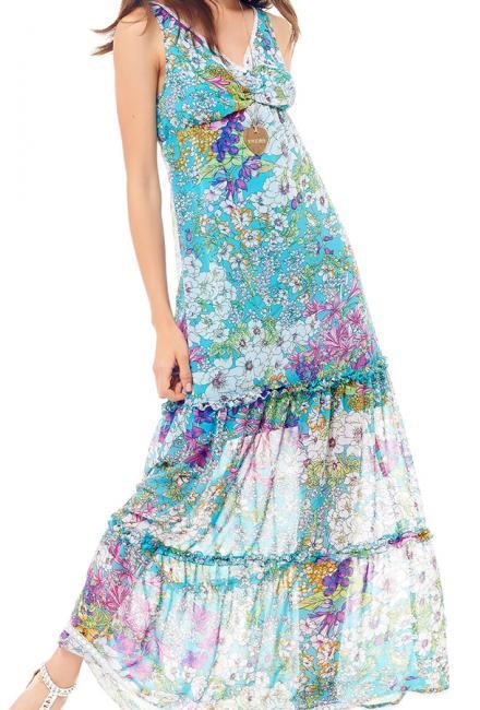 Длинное платье-сарафан LUCKYLU 19LL-309-081