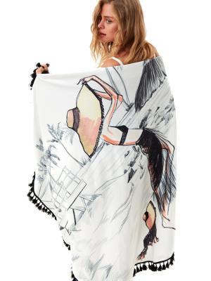 Пляжный круглый коврик-полотенце MOEVA LONDON Summer