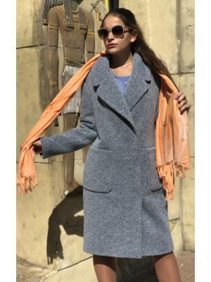 Пальто демисезонное, на потайной застежке m-538