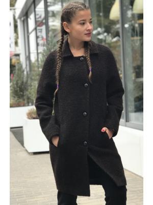 Пальто демисезонное на пуговицах М-735k