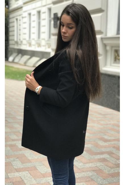 Демисезонное, укороченное пальто классического силуэта М737