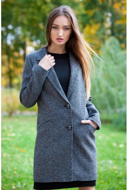 Демисезонное, укороченное пальто классического силуэта М737-gl