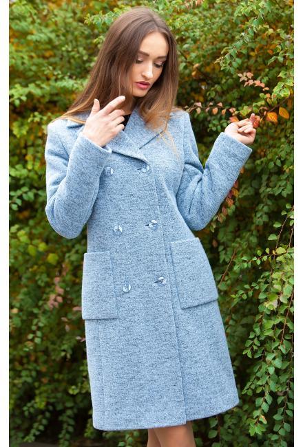 Пальто демисезонное, двубортное M-545