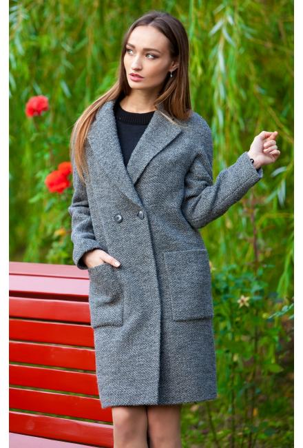 Пальто демисезонное, двубортное M-528s