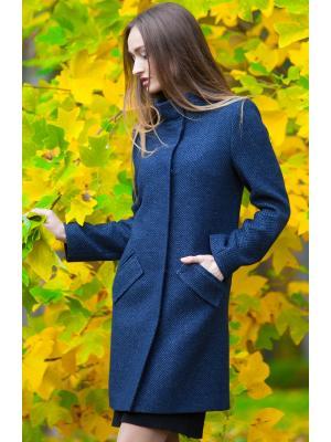 Пальто демисезонное с воротником-стойкой m-745-sm