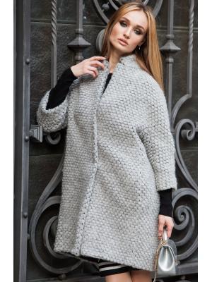Пальто демисезонное, цельнокройное, мягкого силуэта, со стойкой М-SASH