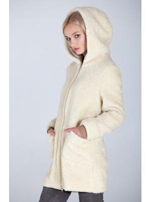 Зимнее пальто-шубка из итальянской шерсти M-785-m