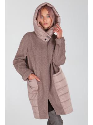 Демисезонное пальто с капюшоном Lari 23-beige