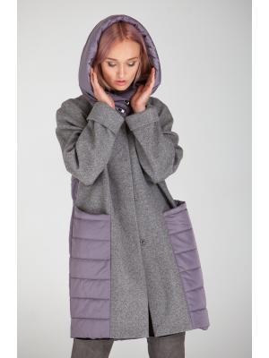 Пальто с капюшоном Lari 23-grey