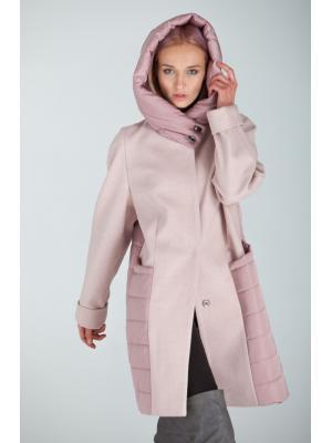 Пальто с капюшоном Lari 23-pink