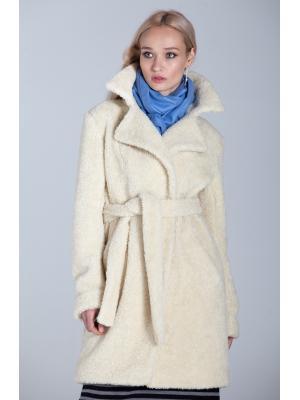 Зимнее пальто-шубка из итальянской шерсти с поясом M-593