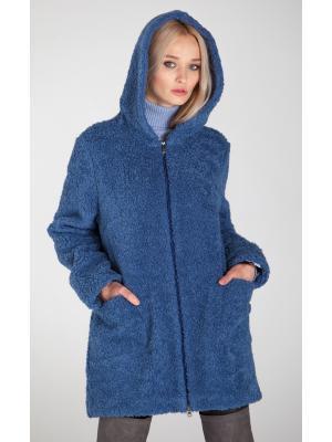 Зимнее пальто-шубка из итальянской шерсти M-785