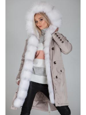 Куртка-парка c мехом арктической лисы Lari M5-pearl