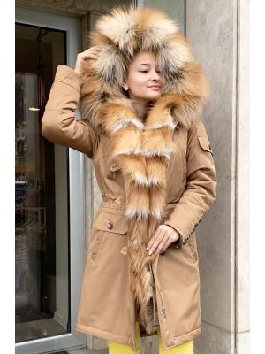 Куртка-парка c мехом рыжей лисы Lari M5-ginger