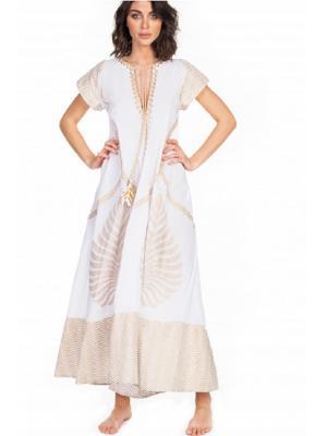 Платье белое макси Pin-Up Cotone Foglia 20P431A -1