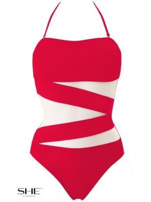Слитный купальник SHE Tiffany ярко-красный