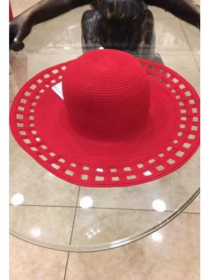 Шляпа красная с перфорацией Jolie 0820-r