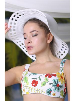 Шляпа белая с перфорацией Jolie 0820-w