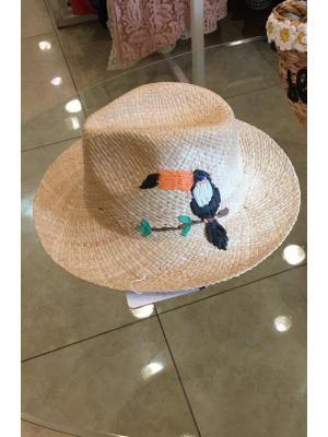 """Шляпка с вышивкой """"Тукан"""" Jolie 0013"""
