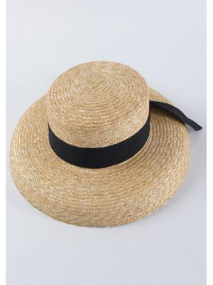 Шляпка из соломы с опущенными краями Jolie 0040